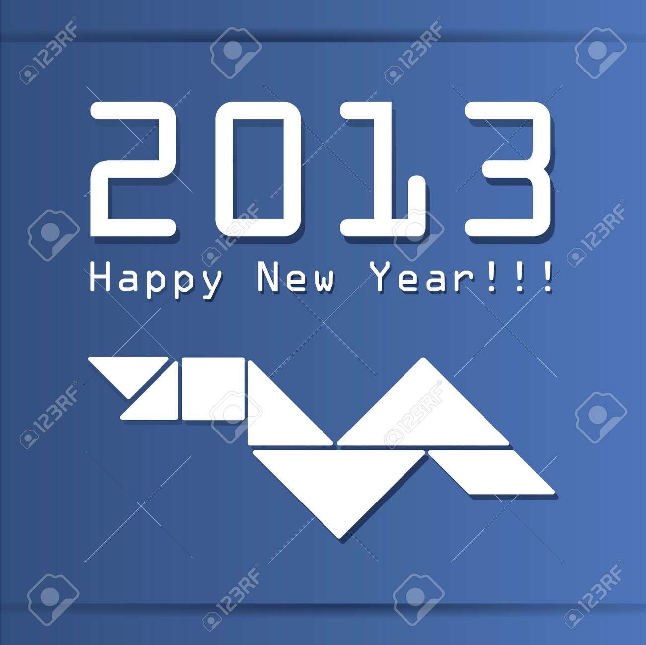 New year card Stock Vector - 15640519