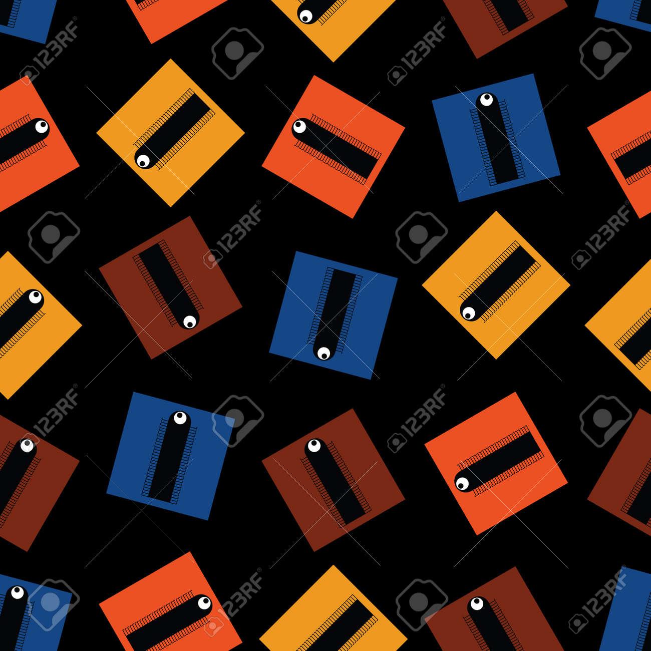 monster - seamless pattern Stock Vector - 15640485