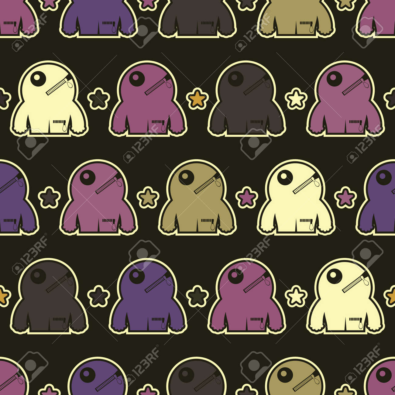 Monsters - seamless pattern Stock Vector - 15957960