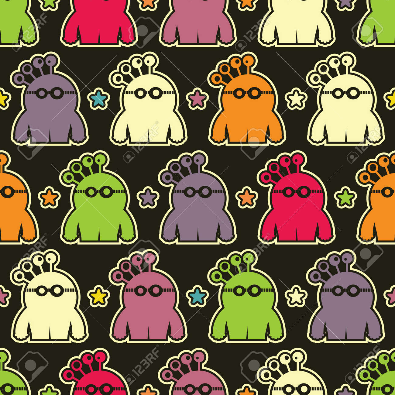 Monsters - seamless pattern Stock Vector - 15957966