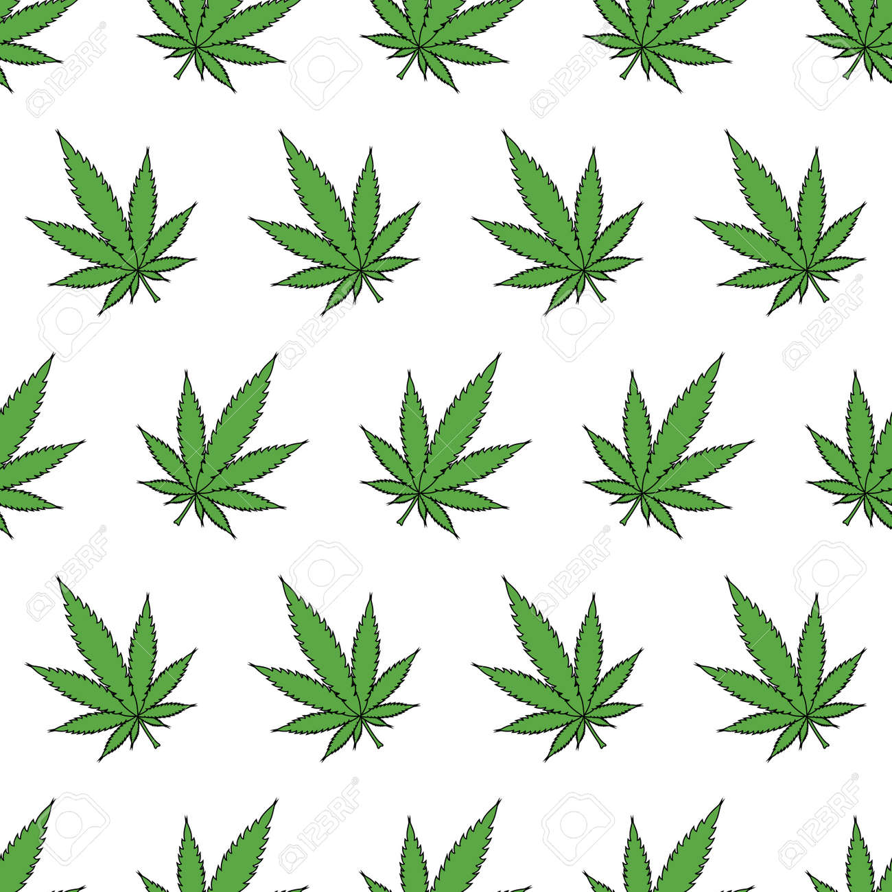 Cannabis leafs  - seamless pattern Stock Vector - 16421384