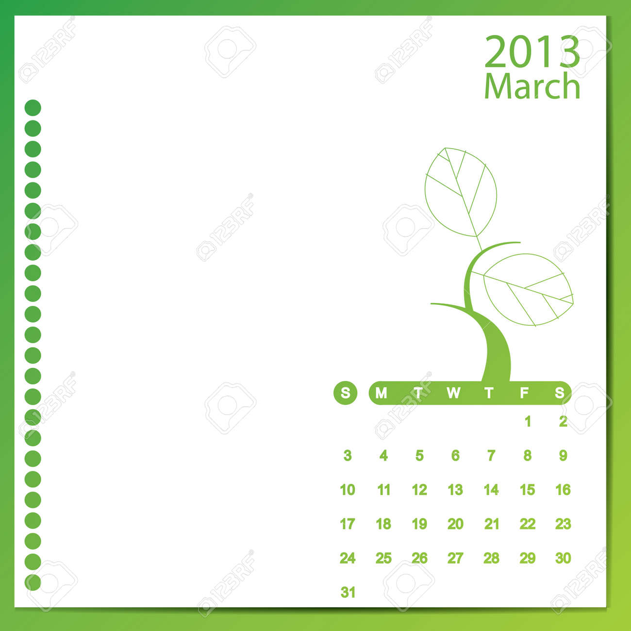 March 2013 Stock Vector - 16699603