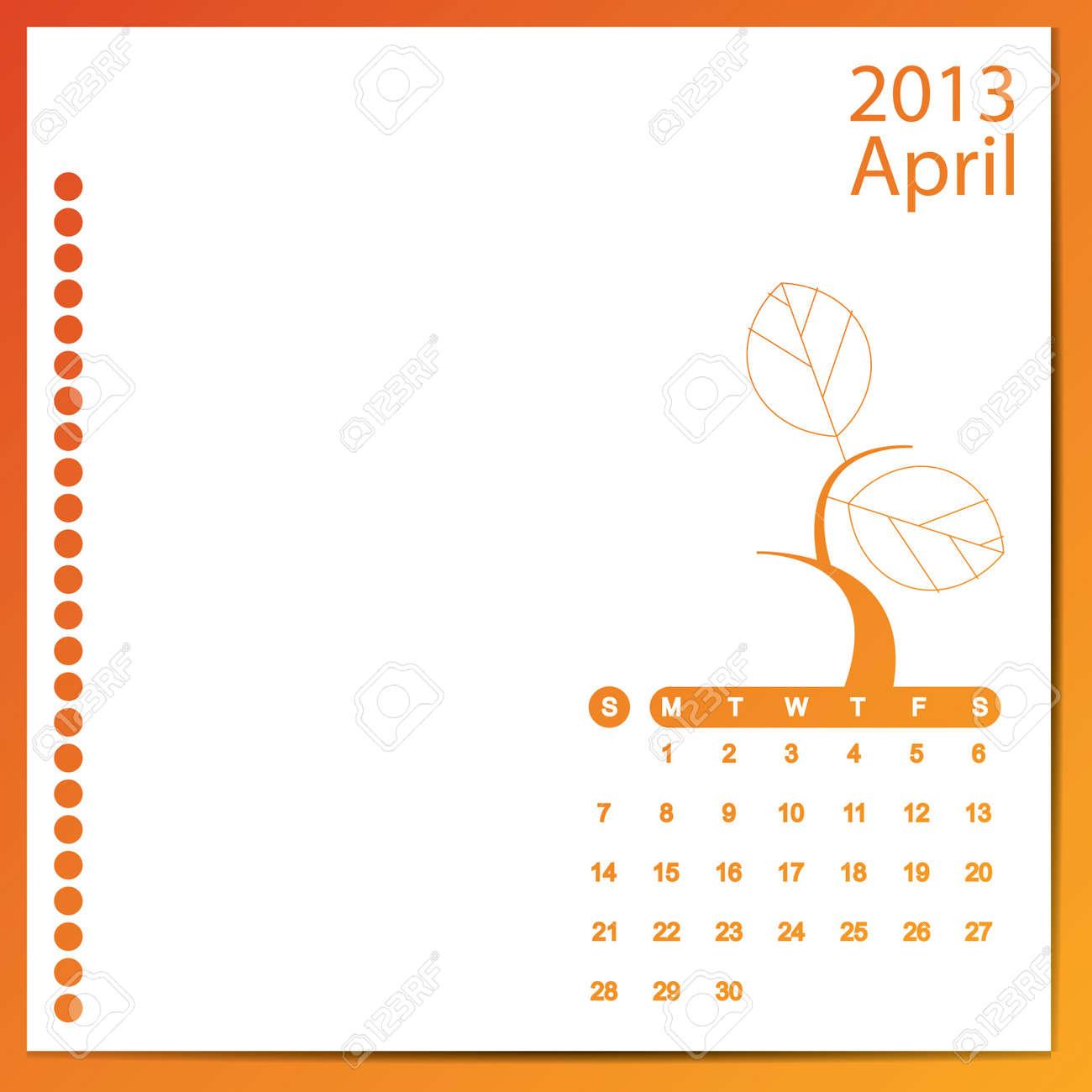 April 2013 Stock Vector - 16699601