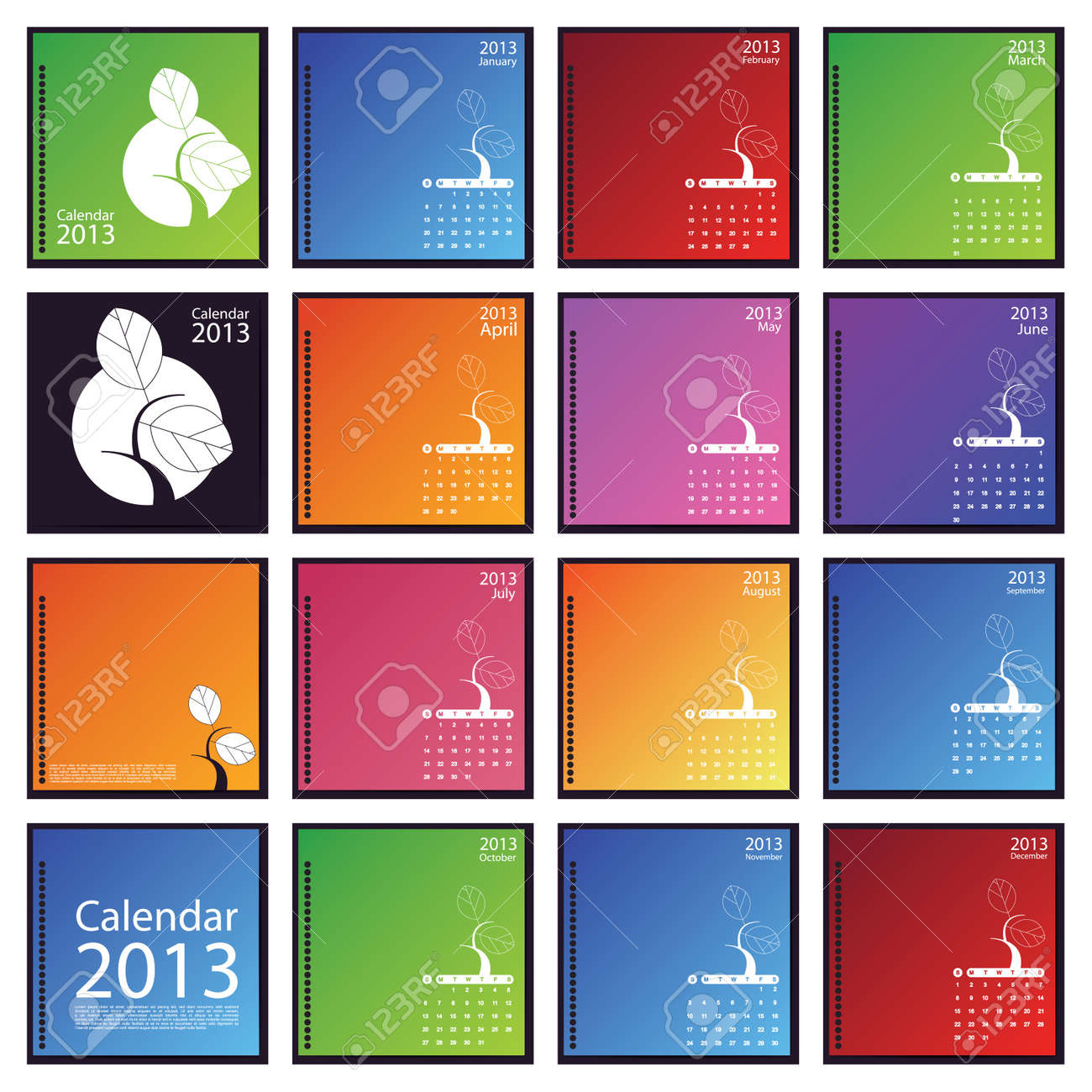 Calendar 2013 Stock Vector - 16699736