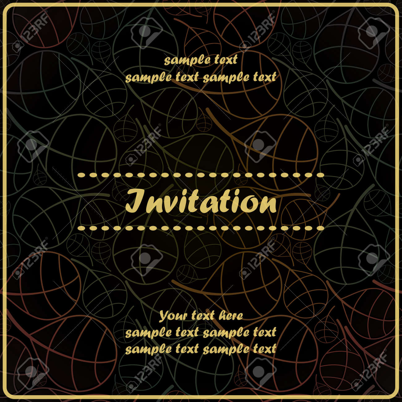 Floral invitation Stock Vector - 17203532