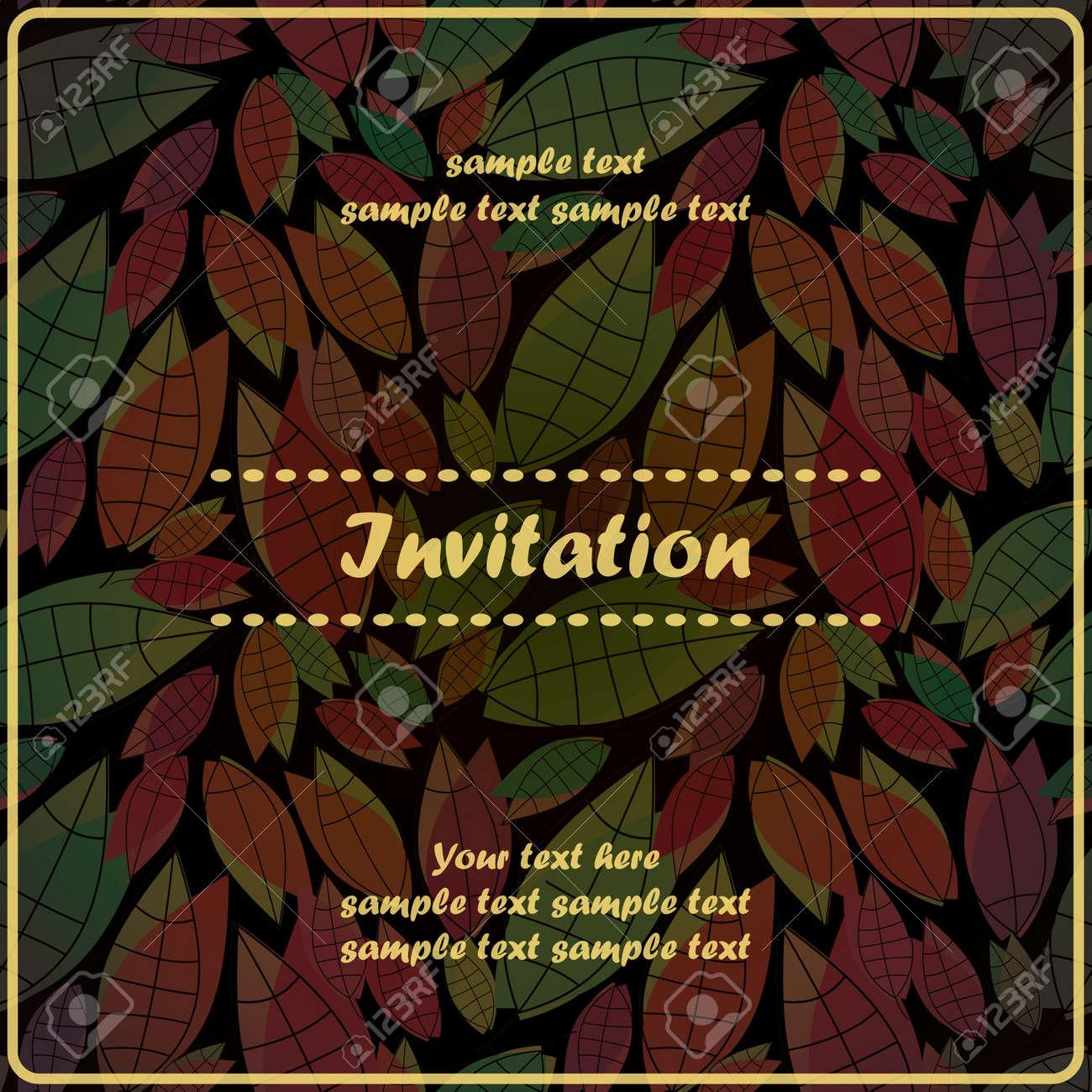 Floral invitation Stock Vector - 17203537