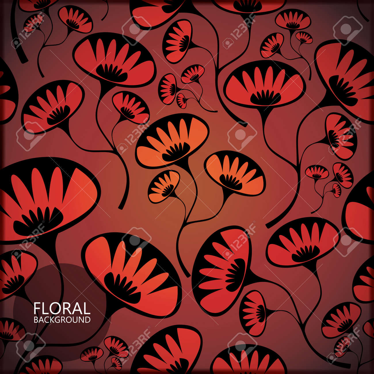 Floral card Stock Vector - 17481729