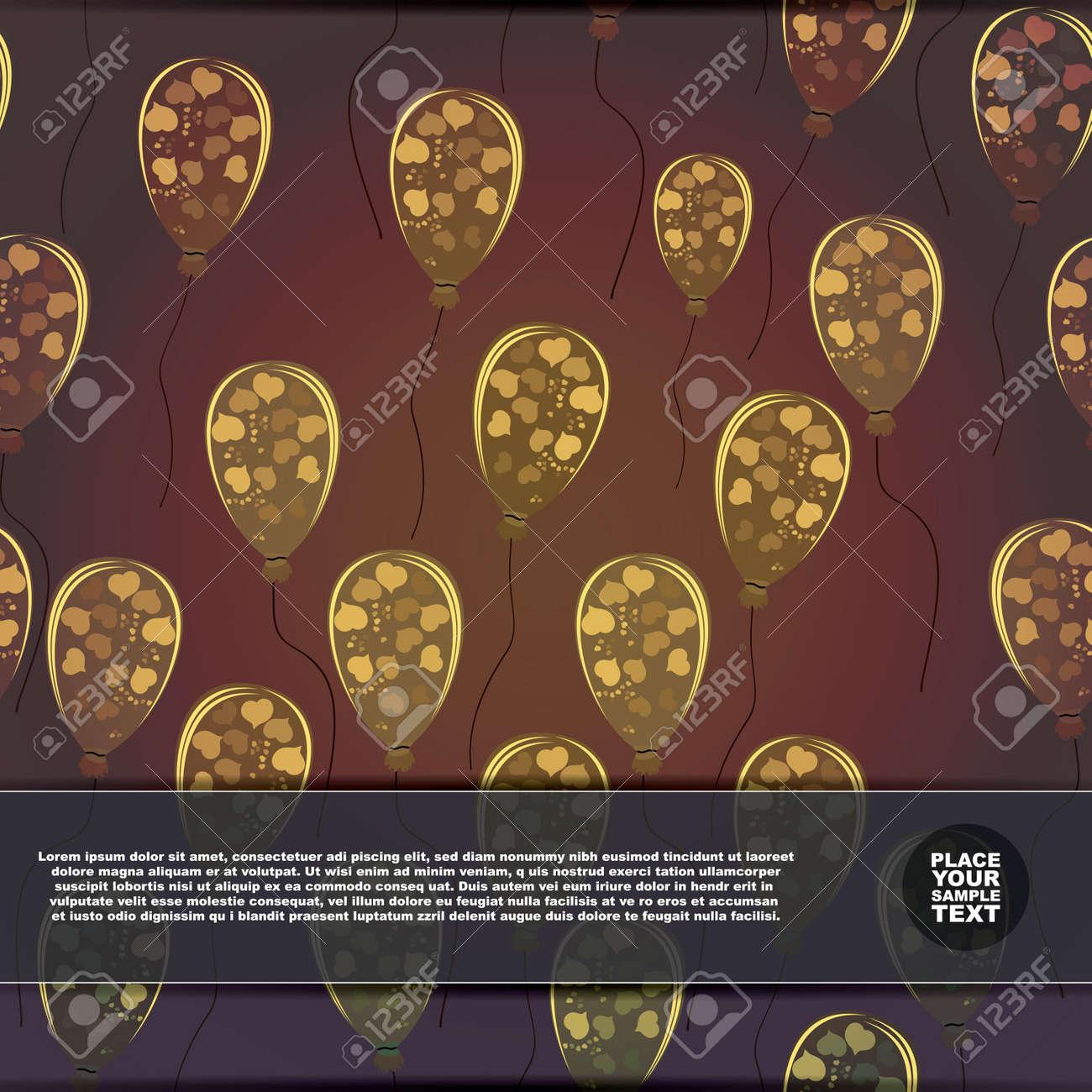 Card with air ballons Stock Vector - 17577772
