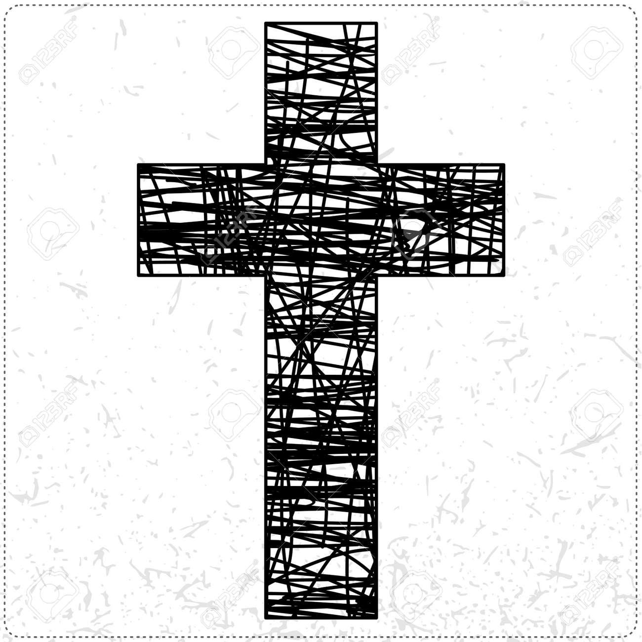 Black cross Stock Vector - 19648344
