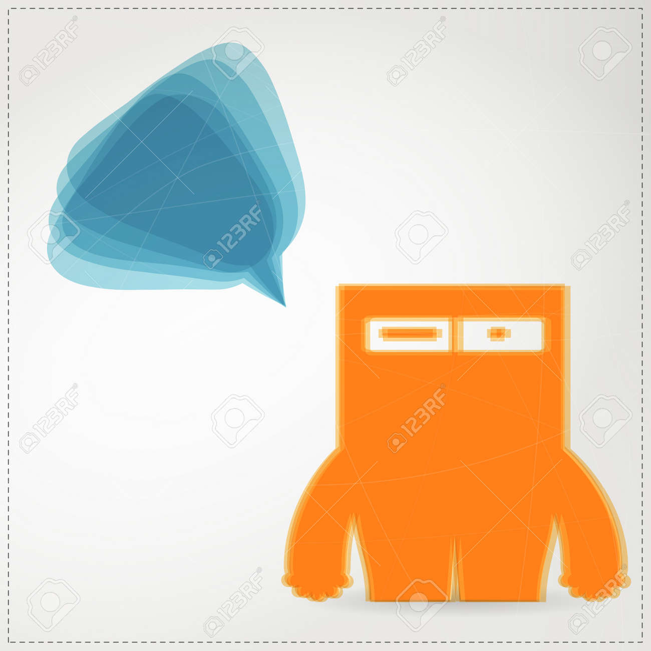 Monster with chat bubble Stock Vector - 19649064