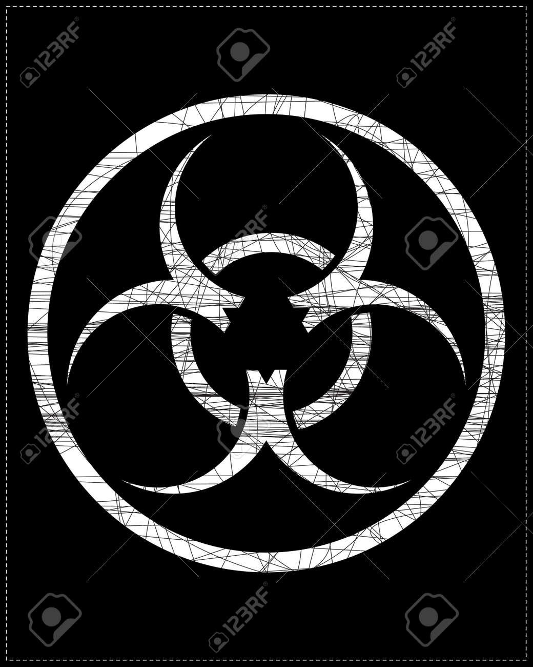 White biohazard symbol Stock Vector - 20183972