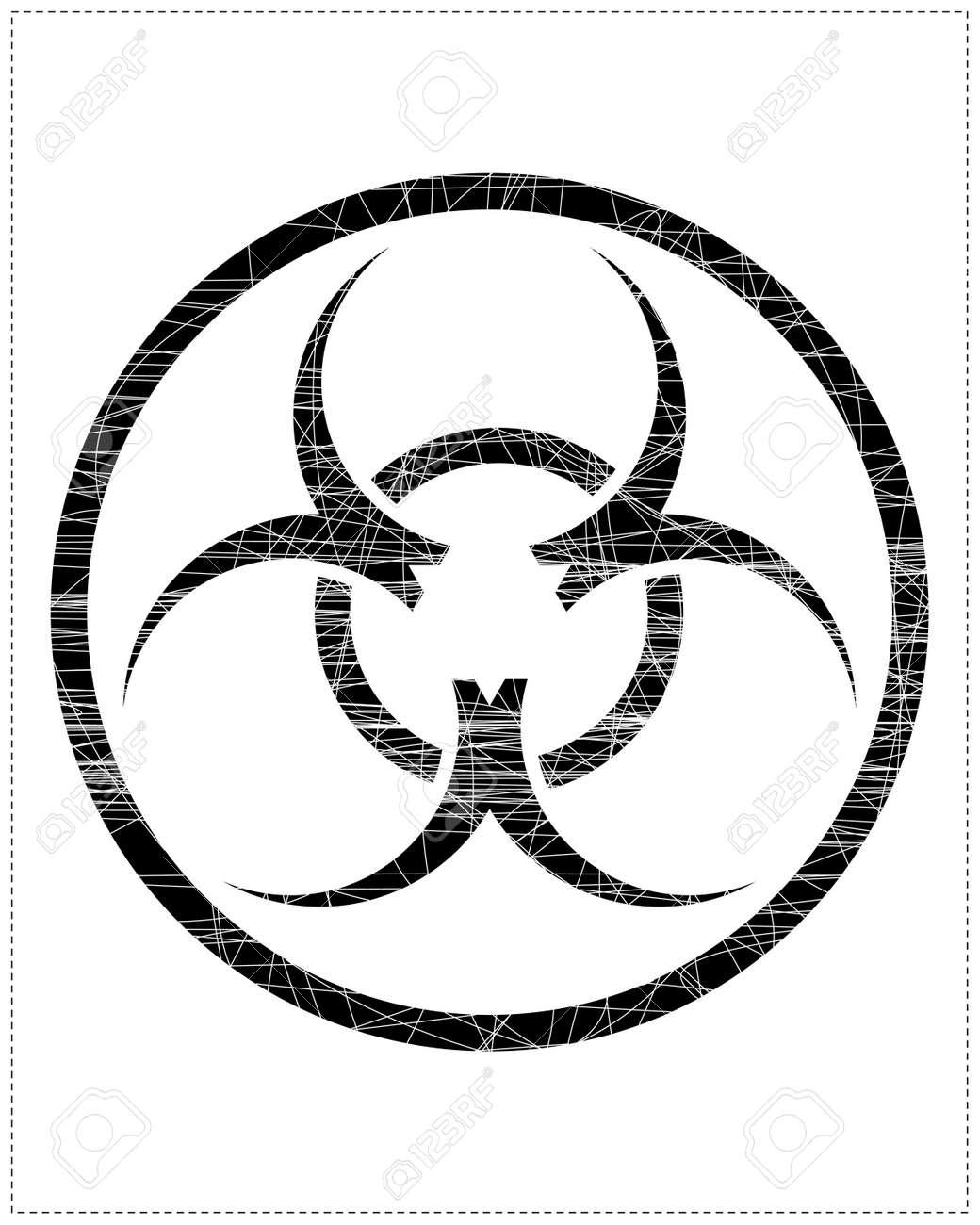 Black biohazard symbol Stock Vector - 20183971