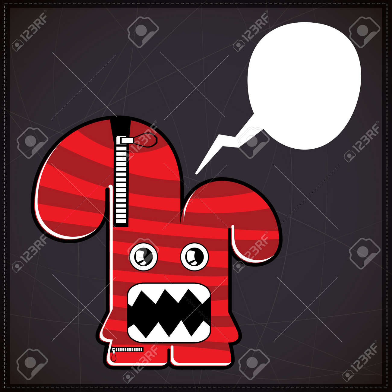 Monster with chat bubble Stock Vector - 20204258