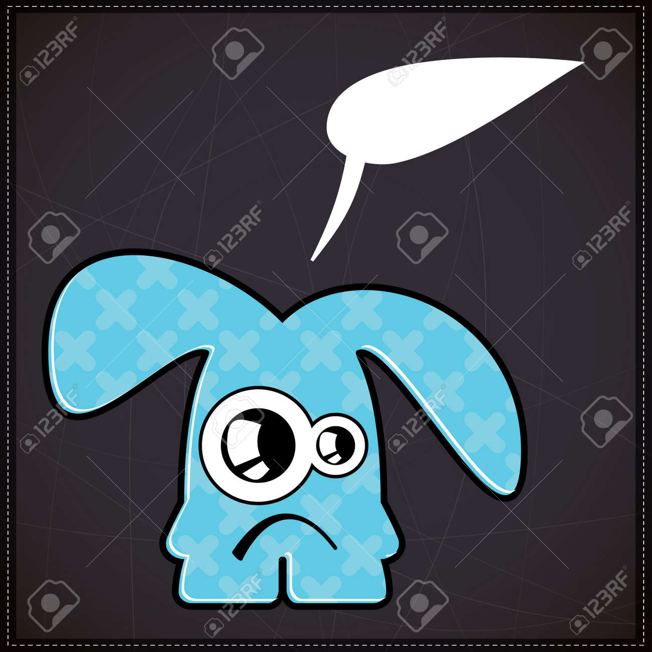 Monster with chat bubble Stock Vector - 20208950