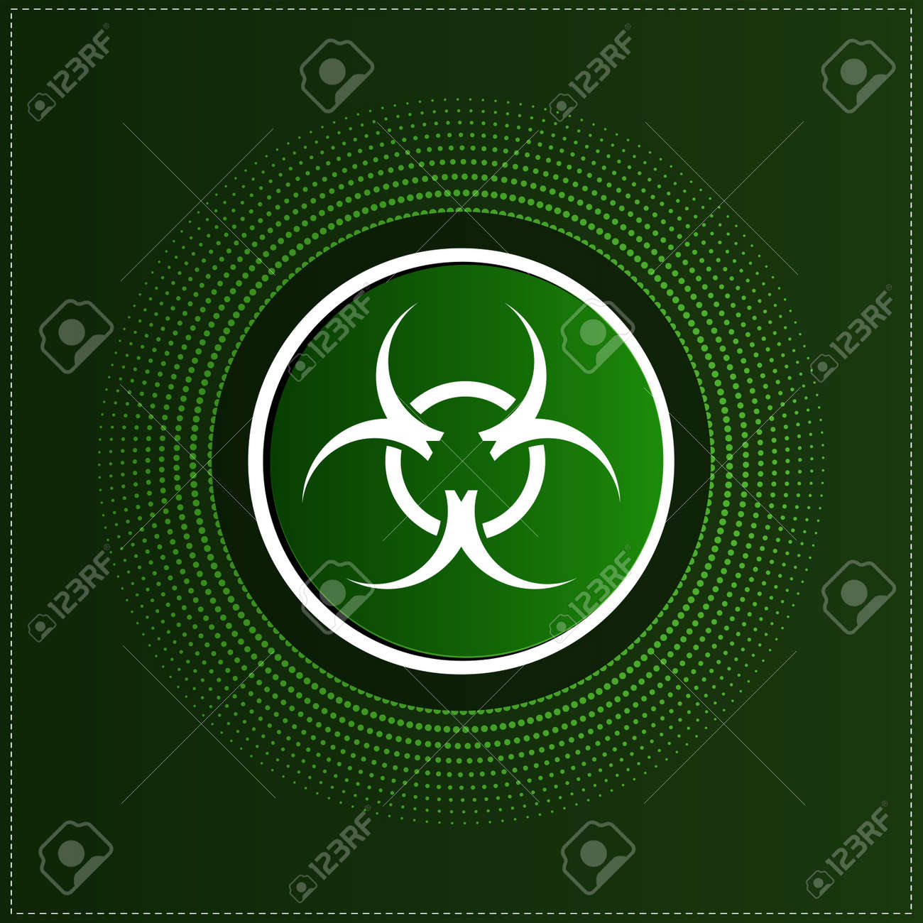 Button With Biohazard Symbol Royalty Free Cliparts Vectors And