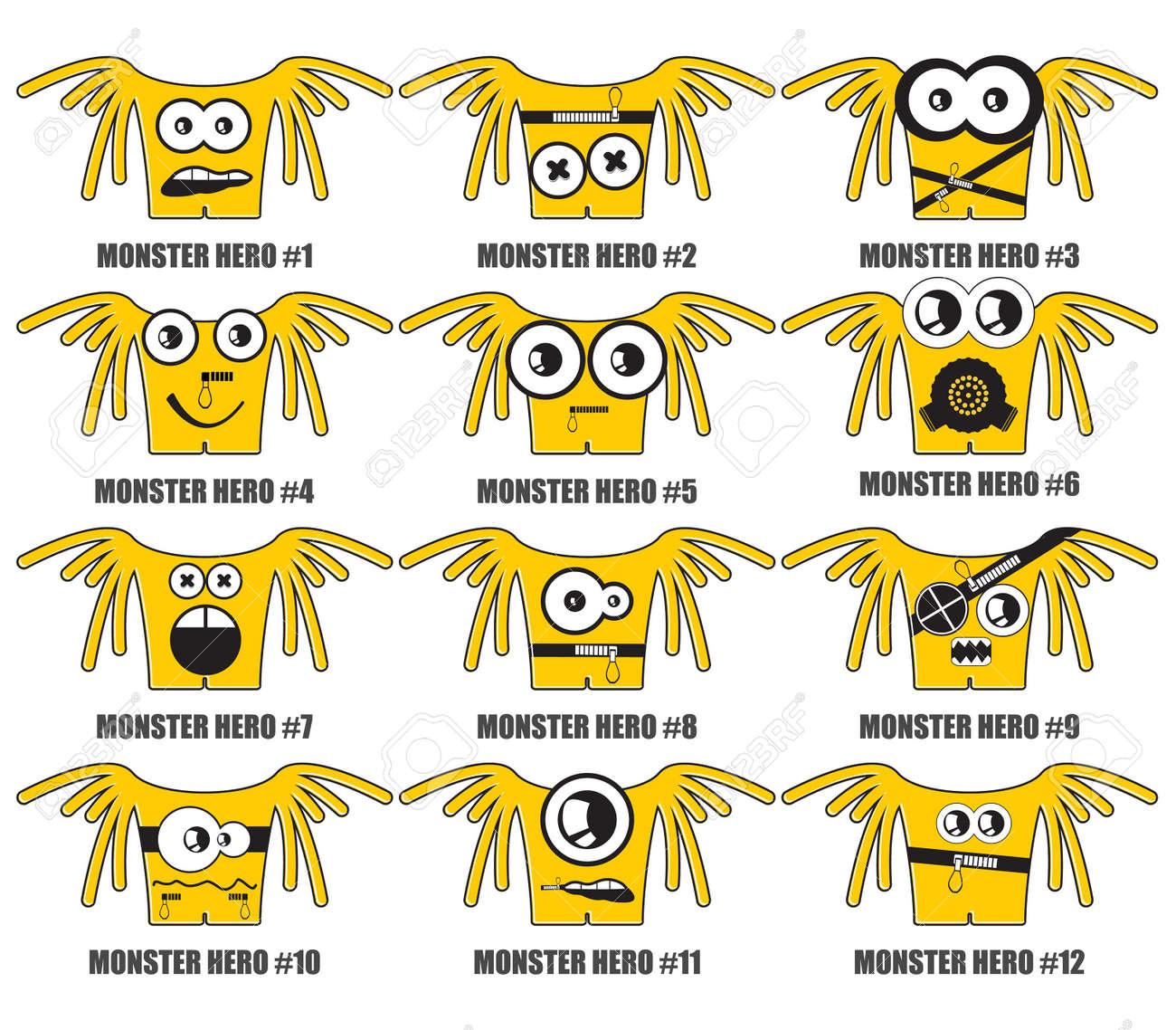 Yellow monsters hero Stock Vector - 20869396