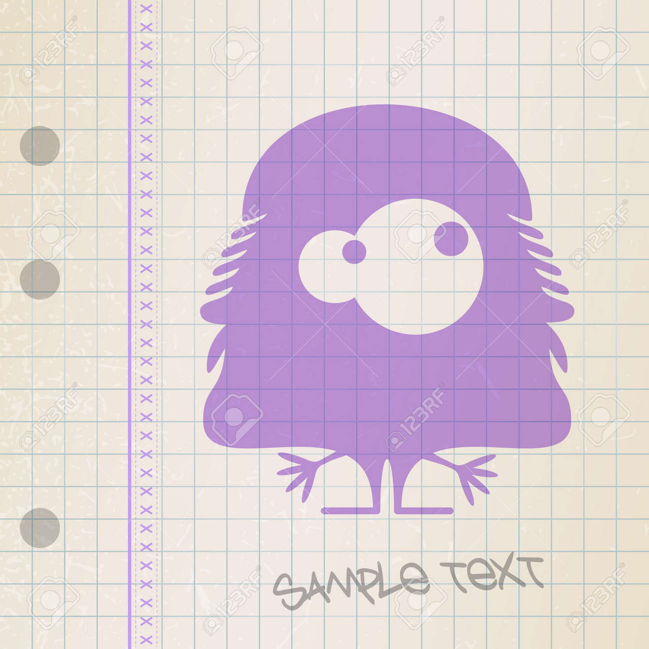 Monster on old paper Stock Vector - 25085218