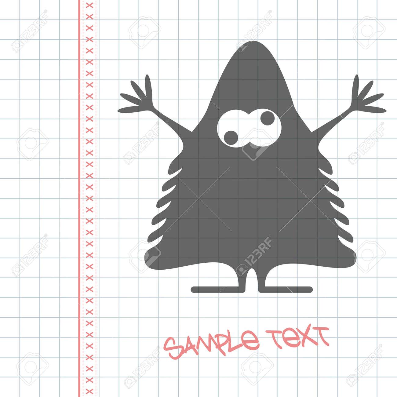 Monster on white paper Stock Vector - 25085230