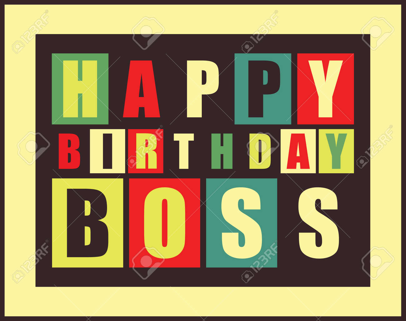 Happy Birthday Card Happy Birthday Boss Vector Illustration – Happy Birthday Cards for Boss