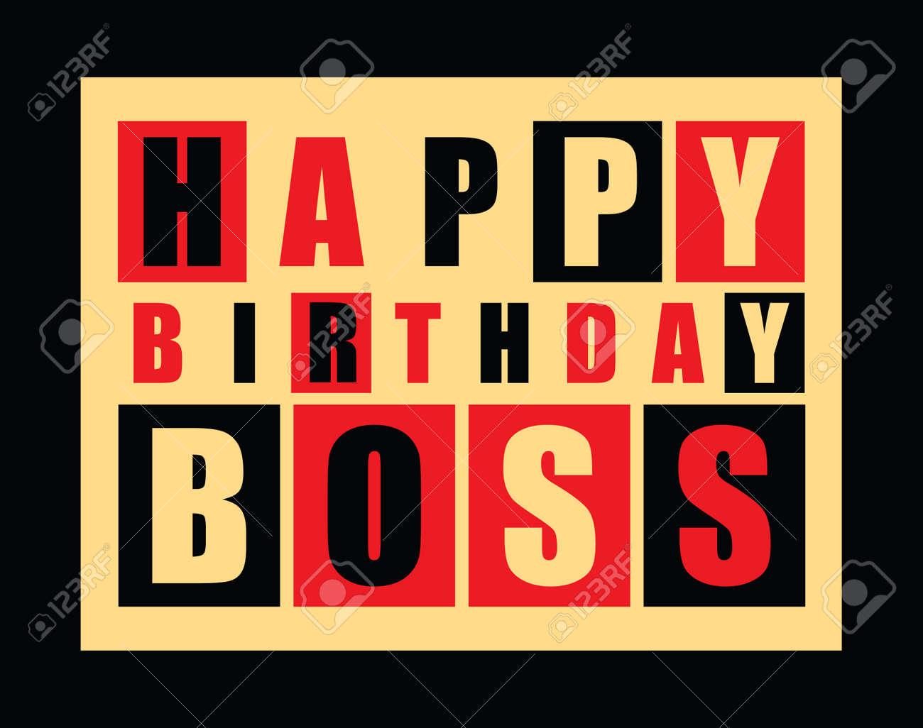 Happy birthday card happy birthday boss vector illustration happy birthday card happy birthday boss vector illustration stock vector 34251258 bookmarktalkfo Gallery