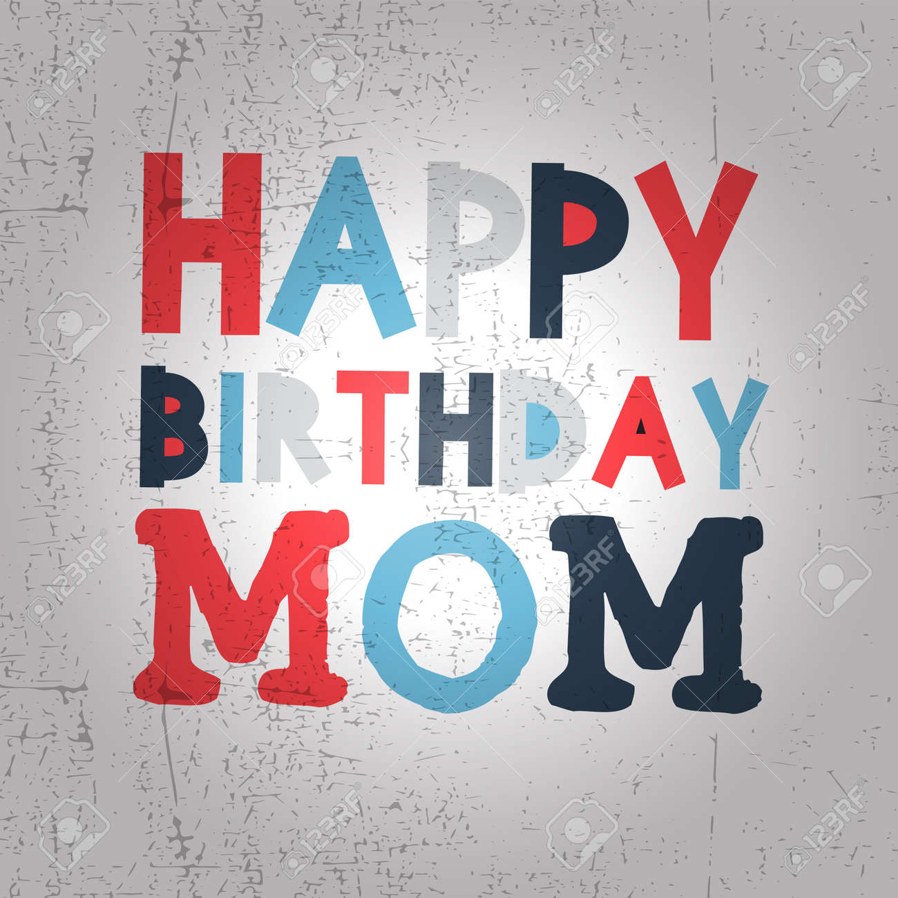 Retro Happy Birthday Card On Grunge Background Happy Birthday – Happy Birthday Mom Cards
