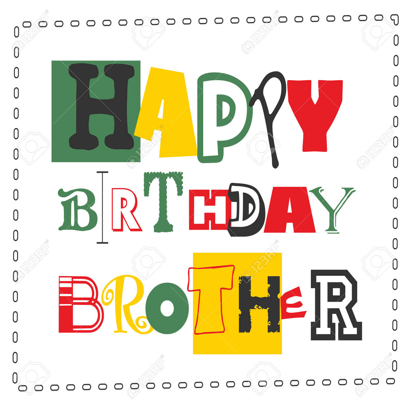 happy birthday cardhappy birthday brother vector illustration stock vector 57012644