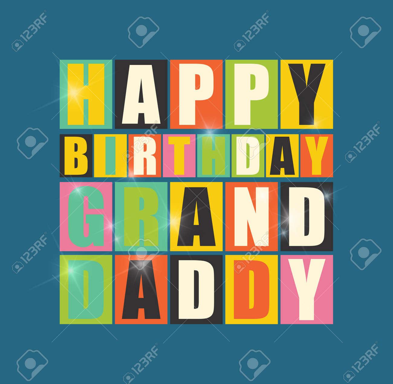 Retro happy birthday card happy birthday grand daddy vector retro happy birthday card happy birthday grand daddy vector illustration stock vector 57012972 bookmarktalkfo Images