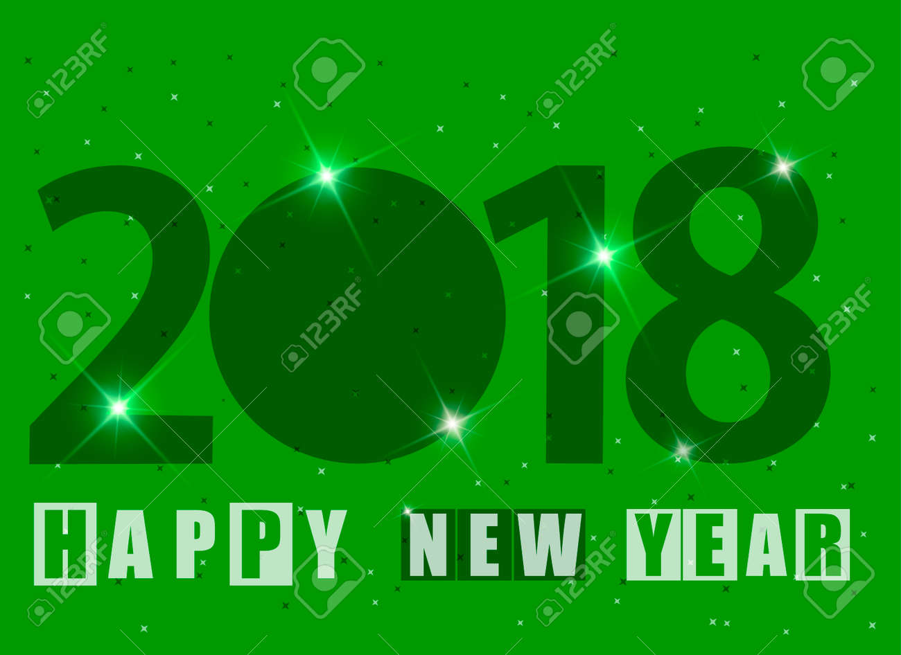 happy new year 2018 greeting card stock vector 90517208