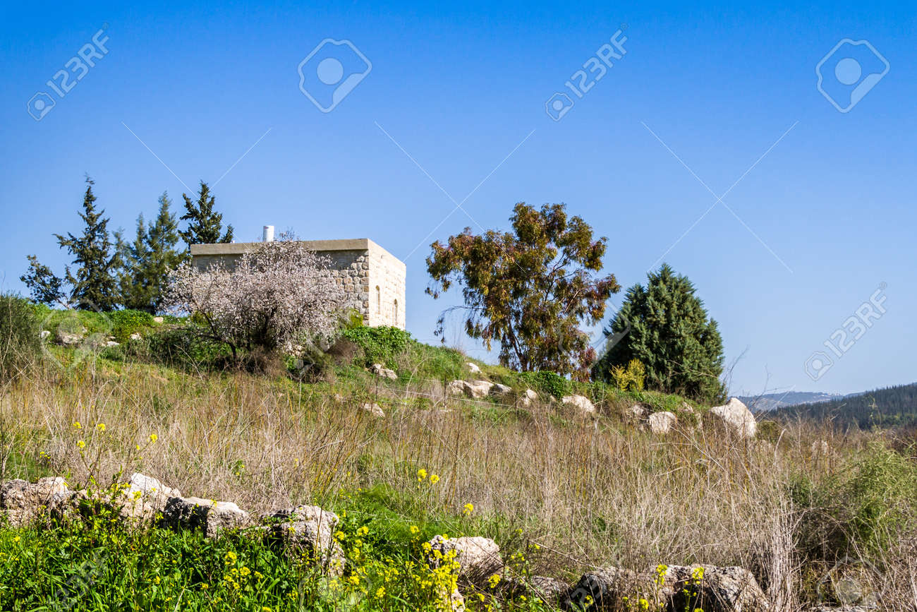 Small stone house New Small Stone House On The Hill Near The Ayalon Valley Israel Stock Photo 66493775 Coconutconnectionco Small Stone House On The Hill Near The Ayalon Valley Israel Stock