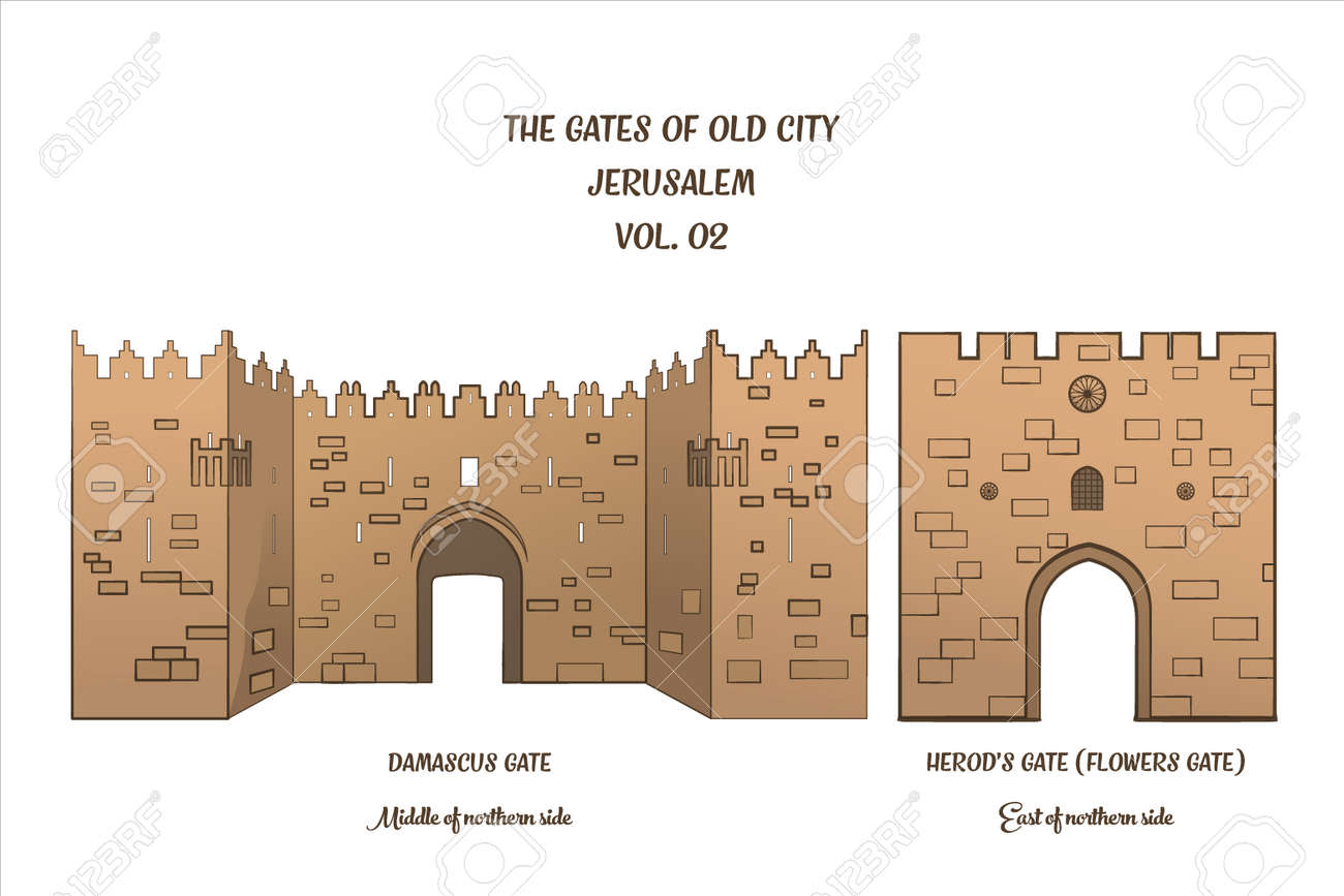 the gates of the old city of jerusalem damascus gate and herod s
