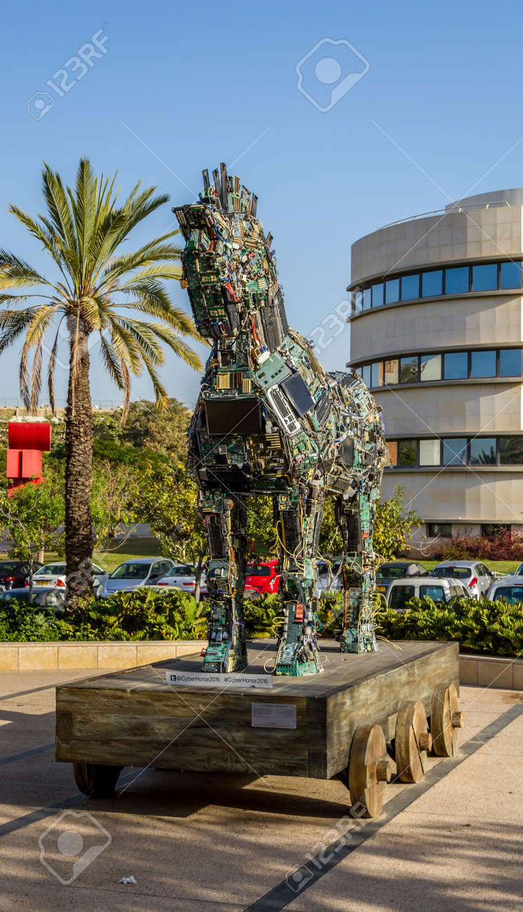 Tel Aviv Israel December 5 Cyber Horse Sculpture Of Trojan Stock Photo Picture And Royalty Free Image Image 71285448