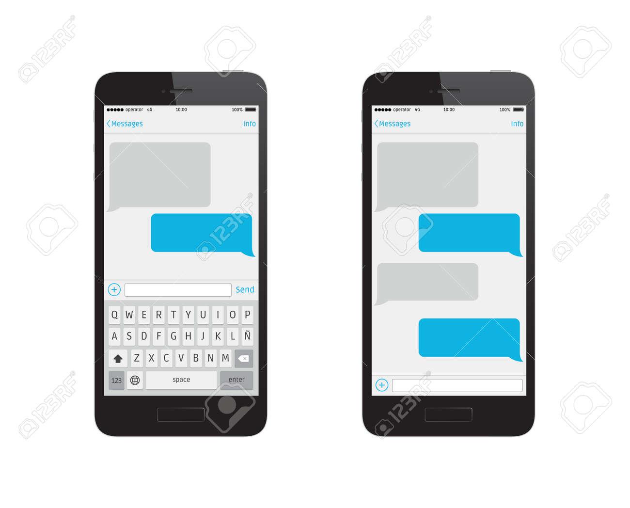 Plantilla Mensaje Teléfono Ilustraciones Vectoriales, Clip Art ...