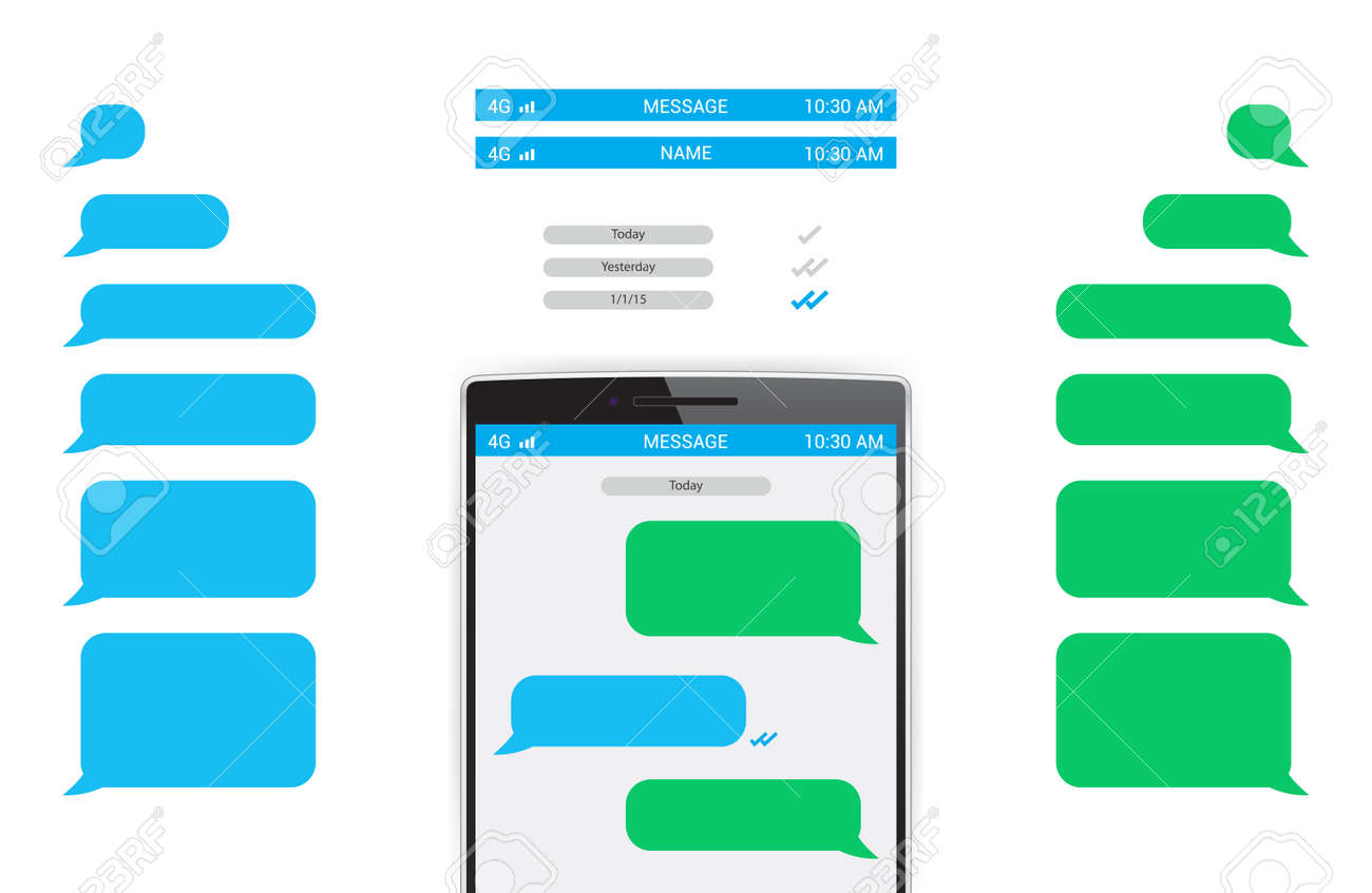 Phone Message Template Royalty Free Cliparts, Vectors, And Stock ...