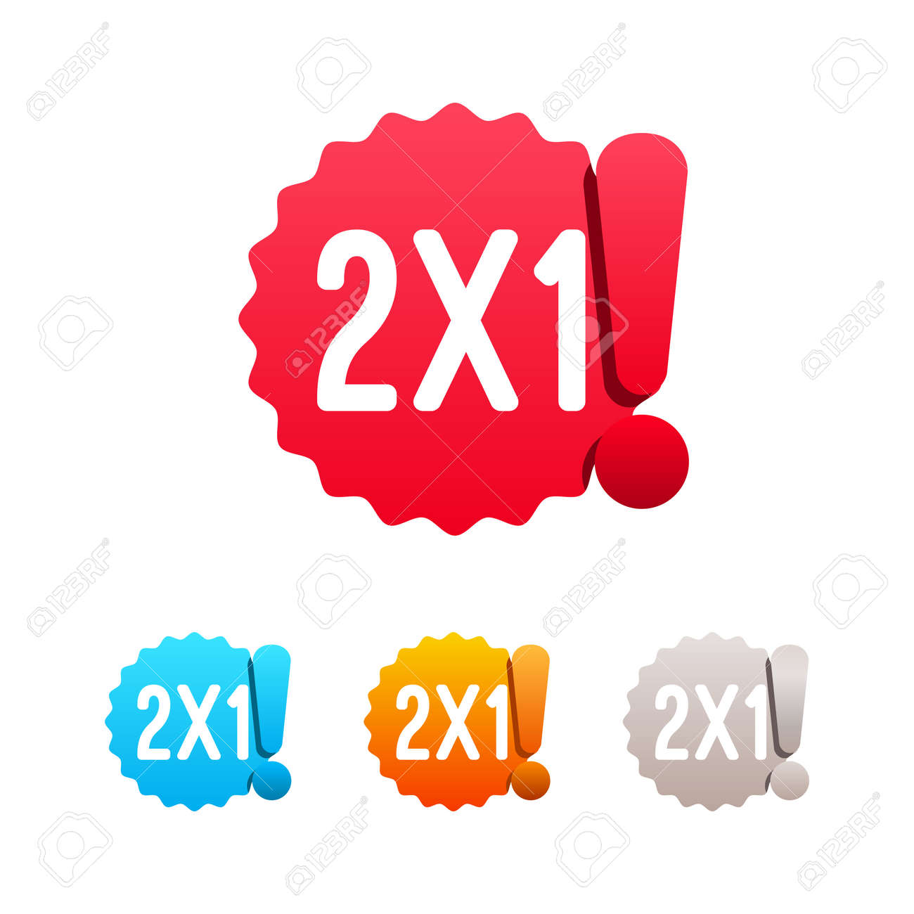 2x1 offer labels royalty free cliparts vectors and stock