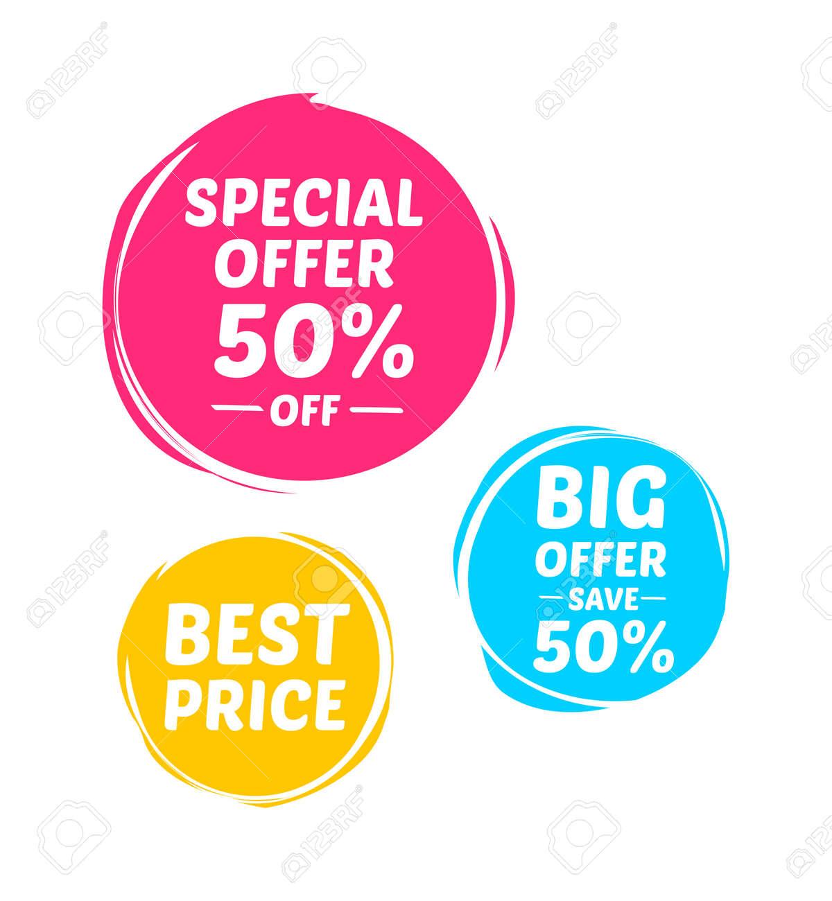 Special Offer, Big Offer & Best Price Marks - 55387313