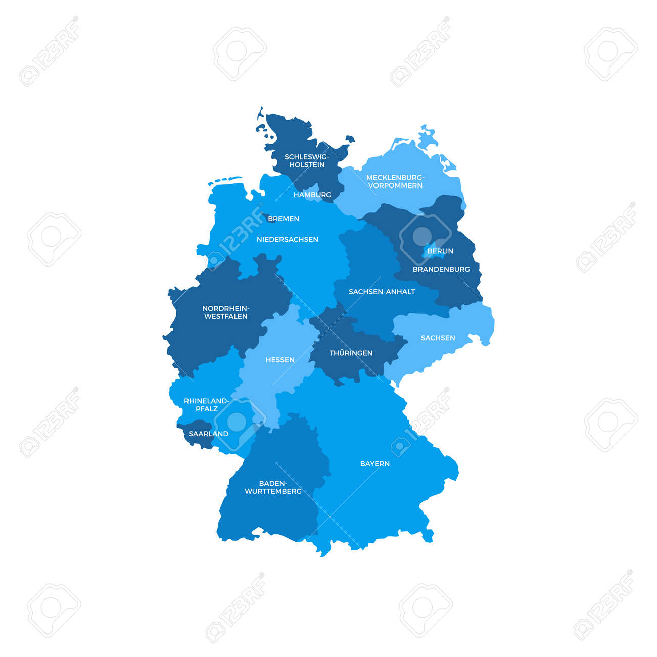 Regions Of Germany Map.Germany Regions Map