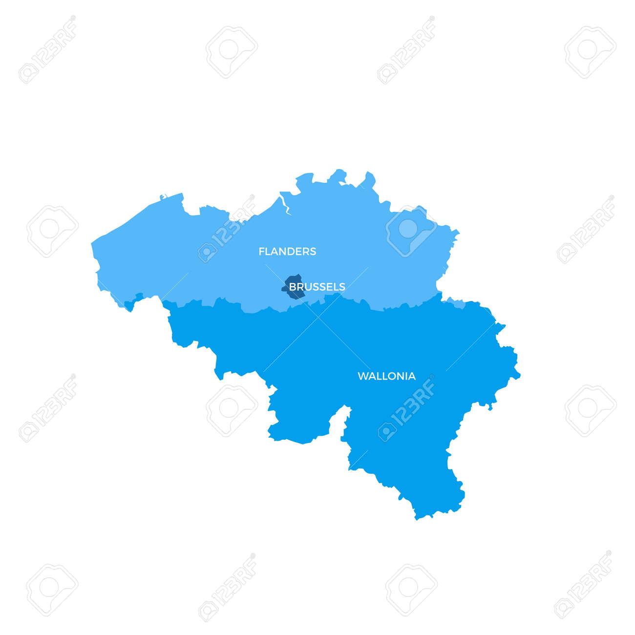 belgium regions map stock vector 70956418