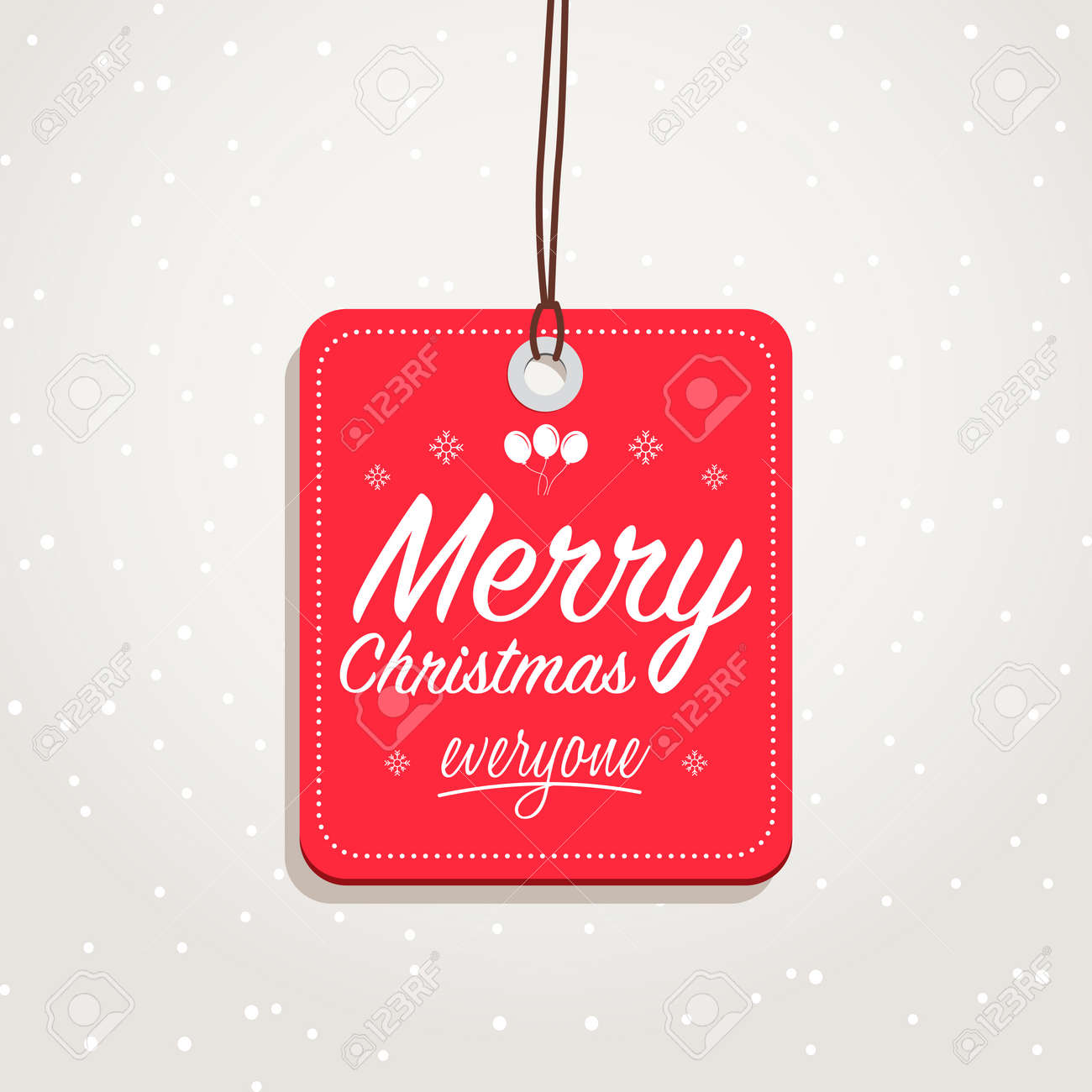 Merry Christmas Everyone >> Merry Christmas Everyone Badge Royalty Free Cliparts Vectors And