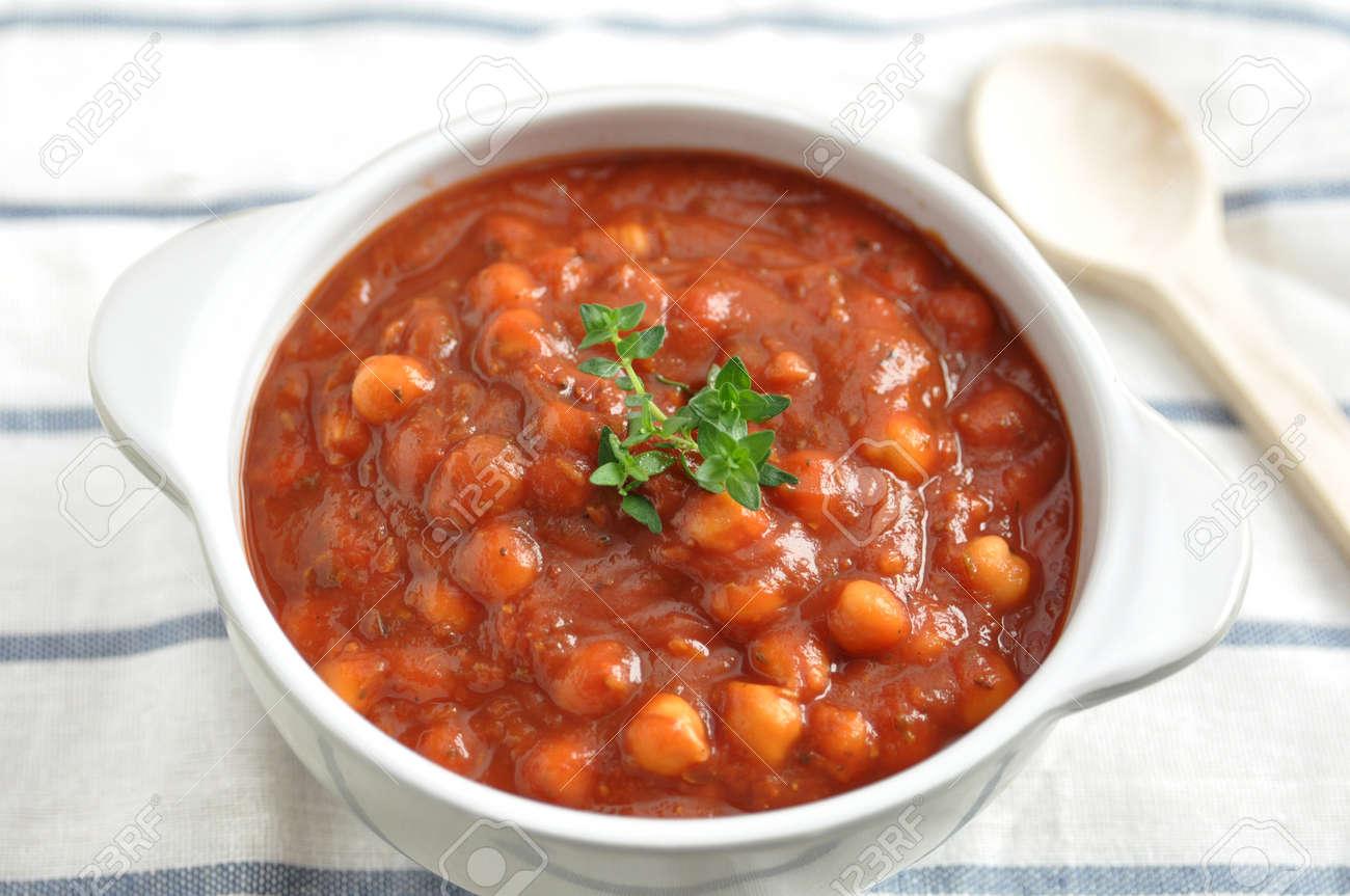 Italian Tomato Soup with beans Stock Photo - 19395634