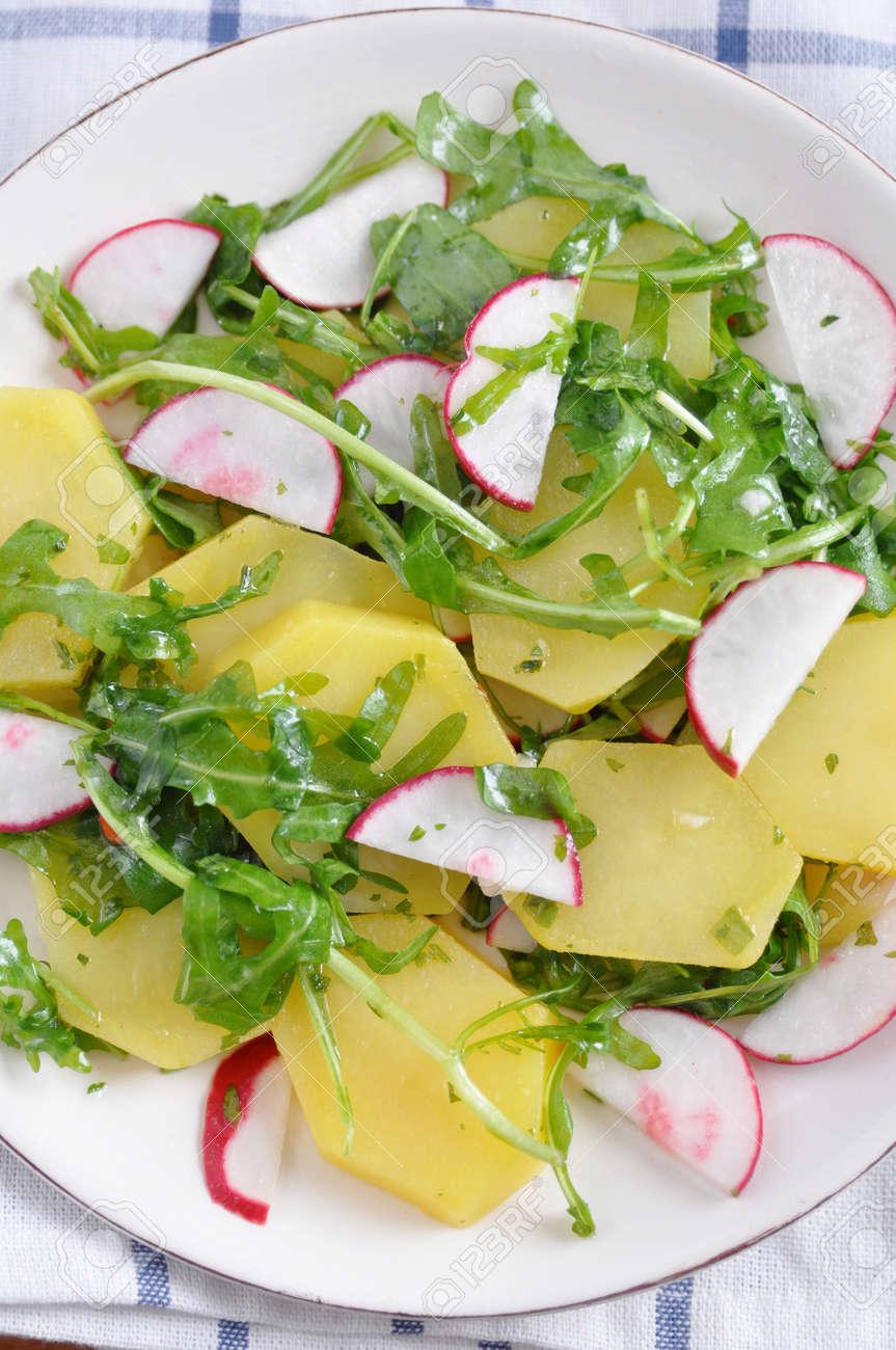 Potato Salad with radish Stock Photo - 19396356