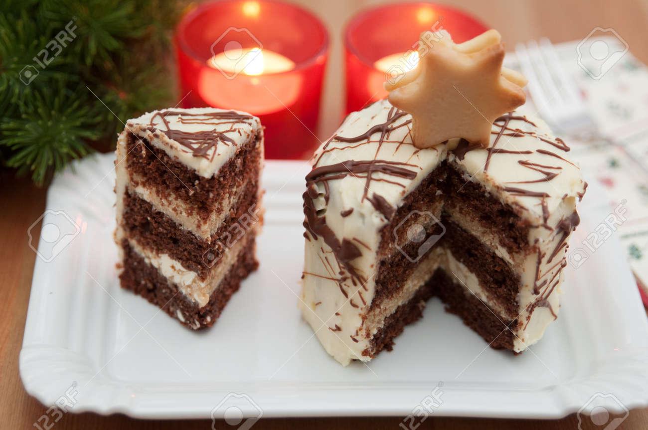 Gateau De Fete De Noel.Gâteau De Fête De Noël