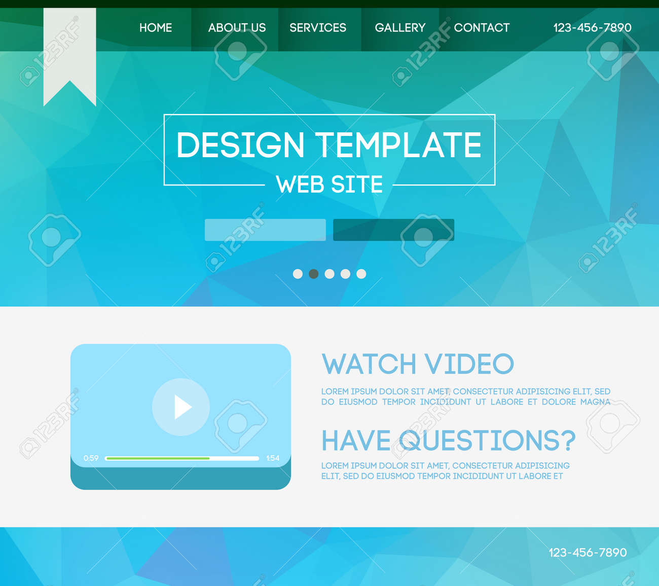 vector design website theme template landing web page layout