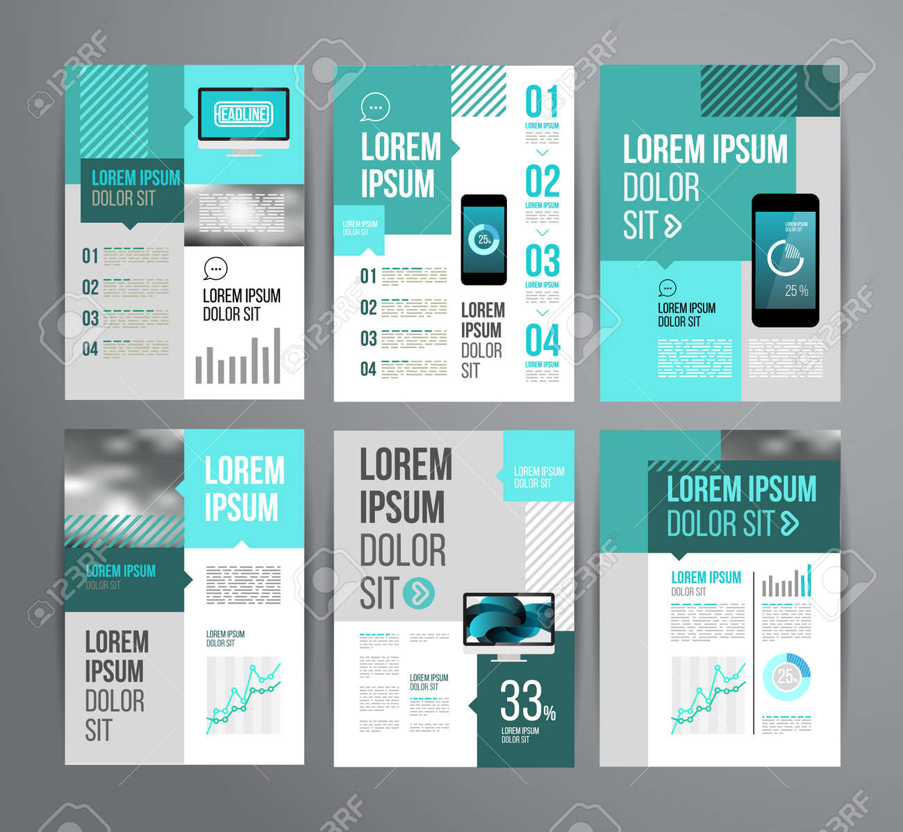 vector design brochure template statistic and infographic vector vector design brochure template statistic and infographic for business flyer or presentation trend design