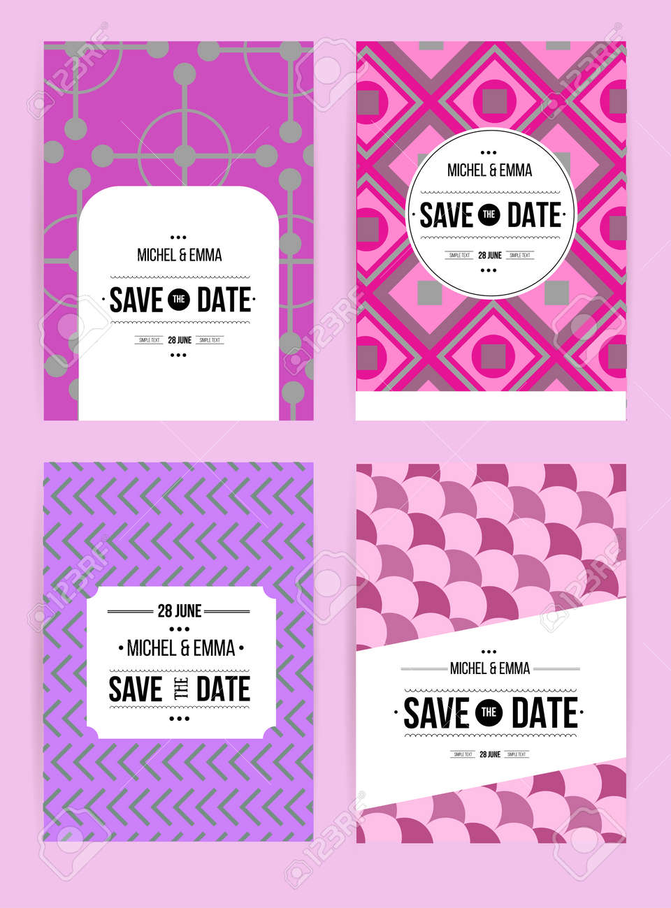 Vector Card Set Templates Abstract Background Illustration For