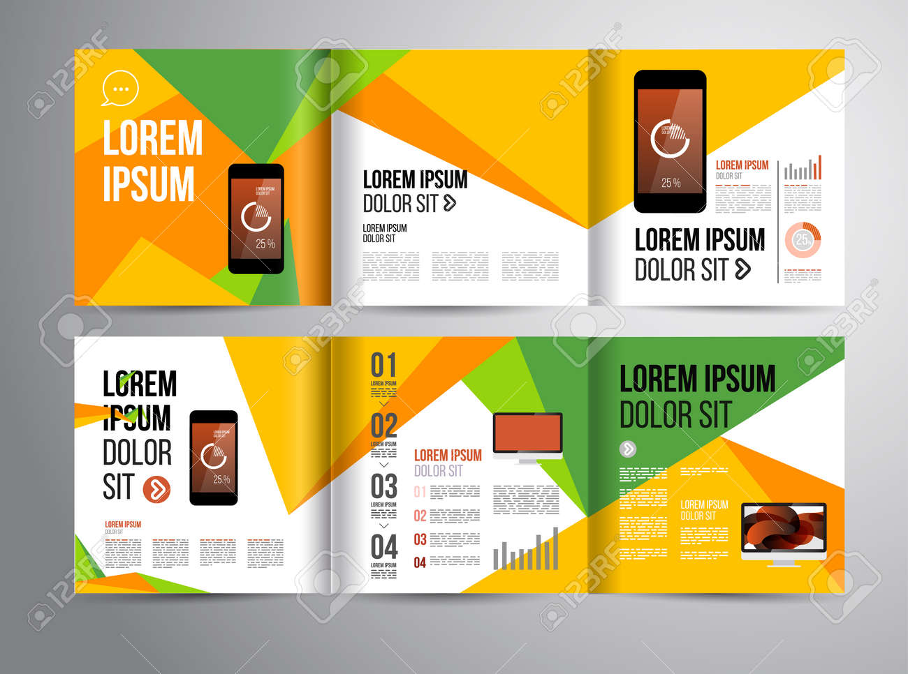 vector design brochure template with statistic and infographic, Presentation templates