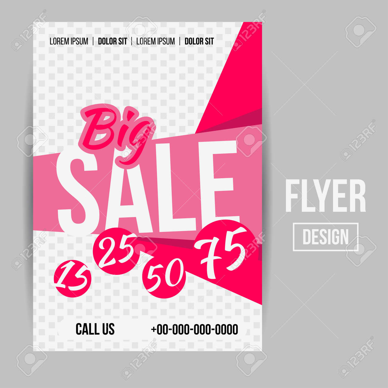 abstract vector creative sale flyers can be used as poster or