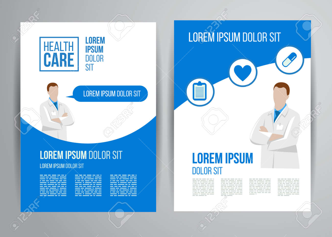 vector health care brochure for clinic doctors medical vector vector health care brochure for clinic doctors medical flyer design