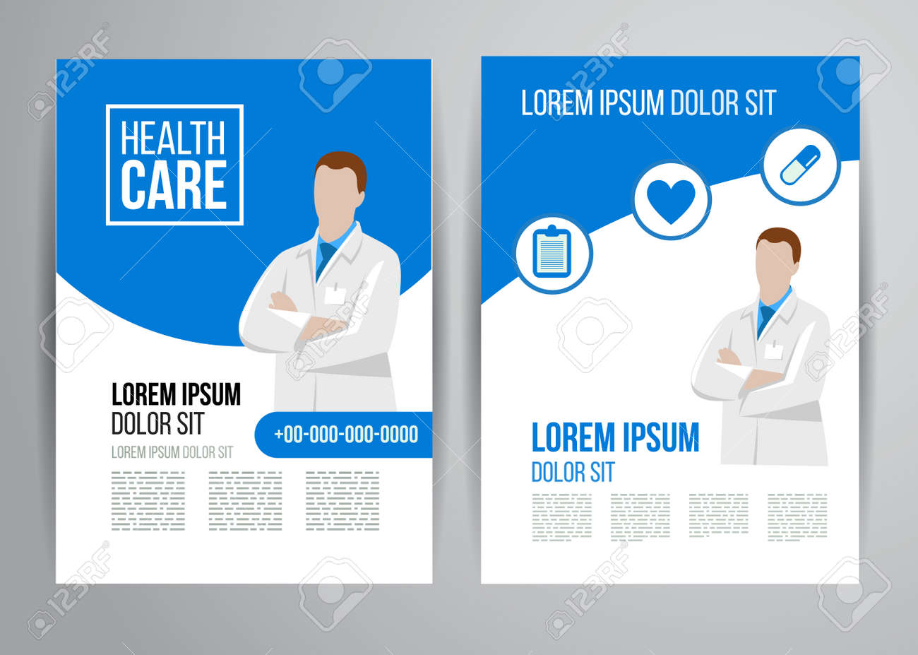 vector vector health care brochure for clinic with doctors medical flyer design