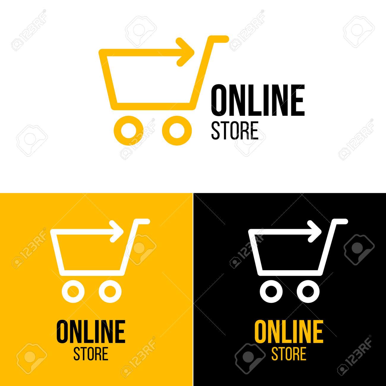 オンライン ショップ ベクトルのロゴ ビジネス ロイヤリティフリー