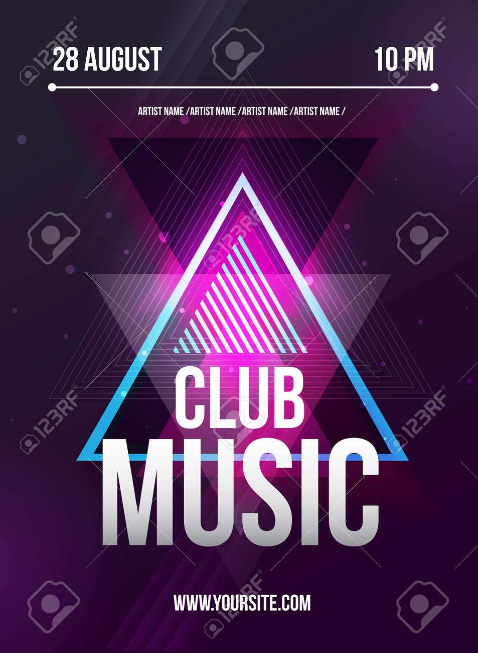 Party Flyer. Club Music Flyer. Dj Lineup Design. Vector Template ...